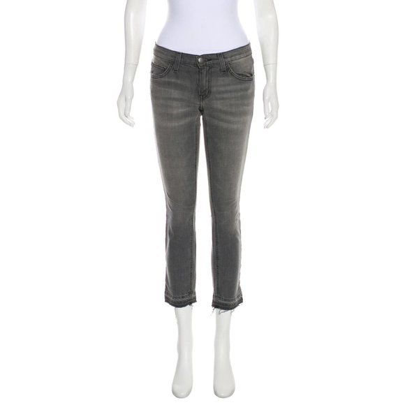 Current/Elliott Denim - Current/Elliott The Cropped Straight Jean Jeans
